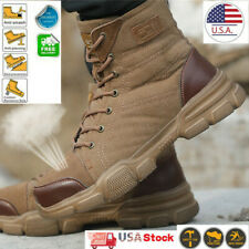 Mens Military Tactical Desert Work Boots Safety Shoes Hiking Motorcycle Combat