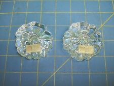HADELAN NAUTILUS CANDLE HOLDERS 2 VINTAGE PIECES EXCELLENT WITH TAGS