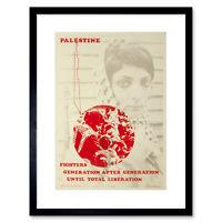 Political Civil Rights Palestine Israel Liberation Framed Wall Art Print
