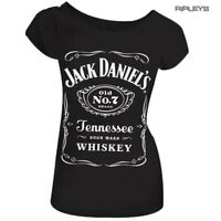 Official Ladies T Shirt JACK DANIELS Black CLASSIC LOGO Top All Sizes