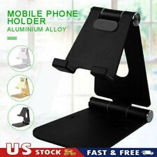 Dual Foldable Desk Mobile Phone Holder Tablet Mount Stand Game Bracket Support