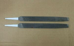 """2 Vintage NOS Heller NU-CUT File 7.75"""" Long, 5/8"""" Wide Metal File USA , LOT of 2"""