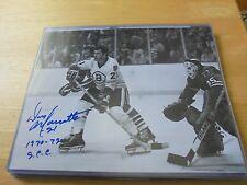 Don Marcotte 8 X 10 Autographed Photo Boston Bruins #21 Stanley Cup Inscription