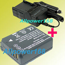 Battery + Charger for S007 DE-A25B Panasonic Lumix DE-A45 DEA45 DMC-TZ3/TZ2/TZ1