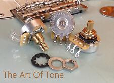 3 X CTS 250K Volume/Tone Pots - Split Shaft Vintage Style - 450G - 10% Tol.