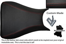 red stitch CUSTOM 03-05 FITS YAMAHA 600 YZF R6 REAL LEATHER SEAT COVER