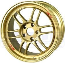 "ENKEI RPF1 Wheels 17x9"" 5x100 35mm Offset GOLD Subaru WRX BRZ Rims 3797908035GG"