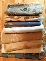 8 Thick Soft Furnishings Fabric Samples / Remnants Quiting Needlework Crafts etc