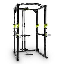PROFESSIONAL POWER RACK & LAT PULL DOWN SQUAT CAGE ROW ARM CURL * FREE P&P UK