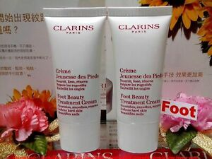 """CLARINS Foot Beauty Treatment Cream ◆50MLX2◆ Beautifies Nails """"SEALED NEW SALE!"""