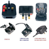 US TO UK Plug Adapter Power USA Japan China 2 Pin To UK 3 Pin Fused Made in UK