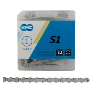 """KMC S1 RB Rust-Buster 1/8"""" Single-Speed Bike Chain 112L BMX Fixed Rustbuster"""