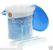 24 Waterproof Storage Bead Tubes in a Pail Great for Many Things Blue