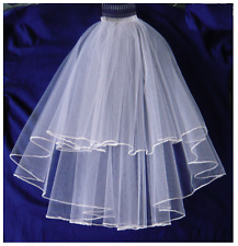 GRILS WHITE FIRST HOLY COMMUNION VEIL