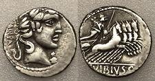 PC#60 Roman Republic AR Denarius C. Vibius C.F Pansa  Coin 90 B.C 3.9g 19mm VF