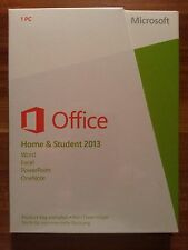 Microsoft Office Home and Student 2013 / Vollversion / PKC / 79G-03604  NEU