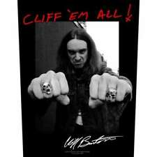 "METALLICA - ""CLIFF 'EM ALL"" - LARGE SIZE - SEW ON BACK PATCH - CLIFF BURTON"