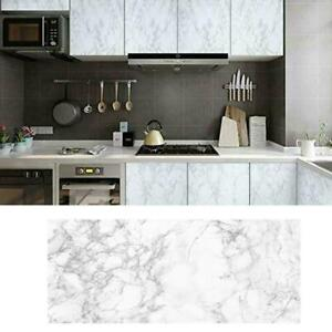 Gray Marble Peel and Stick Wallpaper Self Adhesive Film Contact Decor Paper N6T5
