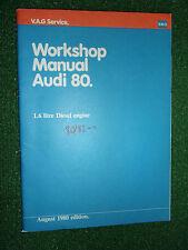 AUDI 80 1.6L DIESEL ENGINE GENUINE OEM FACTORY WORKSHOP MANUAL 1980/81>