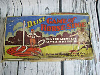 Daisy Game Of Horse Shoe 1920's Game In Original Box *Damaged* Schacht Rubber