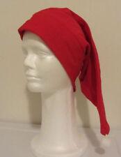 Red Flannel Sleeping Cap - Reversible - Santa Hat / Chemo Hat  BLACK FRIDAY DEAL