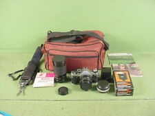 New ListingCanon Ae-1 Program 35mm Film Camera W/50 mm Lens Kit~With Accessories Plus More