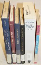 Daniel Defoe - Lot of 6 Books Literary Criticism