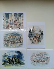 St. Nikolaus Day, Silent Night, Heidelberg Castle, & Black Forest, 10-Card Set