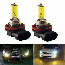 2Pc H11 3000K 55W Golden Yellow HID Halogen Headlight Bulbs Lamp - Low Beam