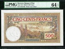 Morocco 1946-1948, 500 Francs, P15b,PMG 64 EPQ UNC