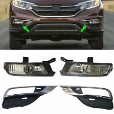 4 Pcs Fit For 2015-2016 Honda CRV CR-V Front Fog Lamp /Driving Lights Cover Trim