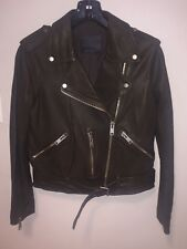All Saints Womens Balfern Leather Jacket US8 Retail $498.00