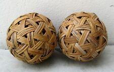 Set Of 2 Sepak Takraw Rattan Balls ( 5 inches/13cm in diameter)