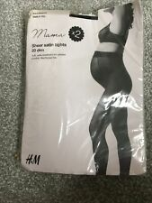 Maternity Sheer Satin Tights 20 Deniers, Medium. Pack Of 2.