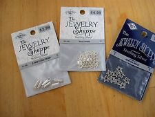 NEW STERLING SILVER 925 THE JEWELRY SHOPPE CRIMP, CHAIN, SPACER BEADS 17PC, 3PKS