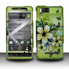 Design Rubberized Hard Case for Motorola Droid X MB810 - Hawaiian Flower