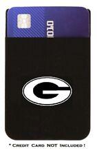 Georgia Bulldogs Cell Phone Credit Card ID Holder Wallet Black Adhesive Sleeve