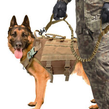 K9 POLICE Tactical Military Dog Harness and Leash Training Hunting Harnesses M/L