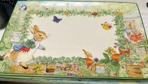 Williams Sonoma Peter Rabbit Platter stoneware  Easter New