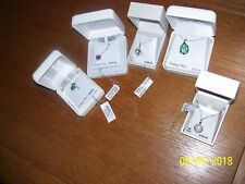 5 STERLING SILVER NECKLACES, RV $500.00, LAB OPAL, PALM TREE, MARCASITE, CRYSTAL