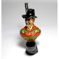 Freddy Handmade Tobacco Smoking Pipe, Plus 5PC Brass Screen