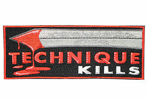Jiu Jitsu BJJ Gi Patch TECHNIQUE KILLS Jiu Jitsu Gift IRON-ON Stocking Stuffer