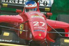 Print on paper Ferrari 412 T1 1994 #27 Jean Alesi (FRA) by Toon Nagtegaal (OE)