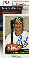 Yoenis Cepesdes 2014 Topps Rookie JSA Coa Autograph Authentic Hand Signed