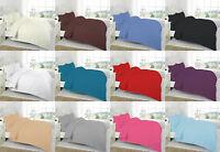 Percale Quality Polycotton 12'' (30cm) Extra Deep Plain Dyed Fitted Bed Sheets