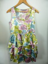 Pretty Floral Maxi print Layered ruffle Party dress sz 8 Weddings Races parties