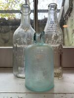 3 Embossed  Vintage  Glass -Citrate of Magnesia Bottle -Wil-Mar e116