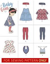 SEWING PATTERN! MAKE BABY GIRL LEGGINGS~DRESS~SHIRT~HEADBAND~BIB! PREEMIE~18 MOS