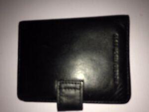 used Giorgio Fedon 1919 Luxury designer Italian Leather card Wallet Black