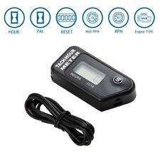 Tach Digital Hour Meter / Tachometer 2/4 Strok Gas Spark Engine Waterproof